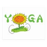 Yoga linda tarjetas postales