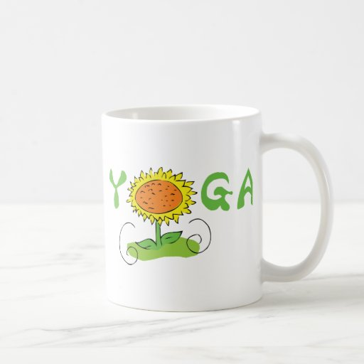 Yoga linda taza de café
