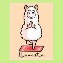 The gift rx yoga cards yoga llama postcard m4hsunfo