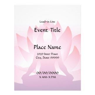 Yoga Lotus 8.5 x 11 Event Flyer