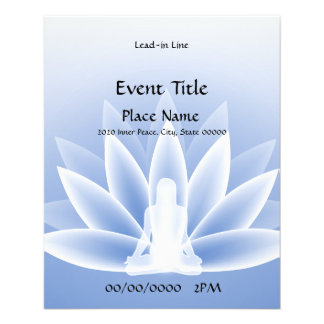 Yoga Lotus Blue Small Event Flyer
