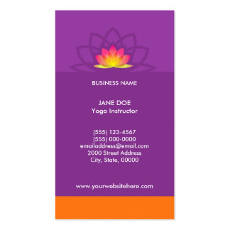 Yoga Lotus Design Card Template Double-Sided Standard Business Cards (Pack Of 100)