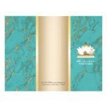 Yoga Lotus Logo Gold & Tirqipose Marble Tri-Fold Flyer