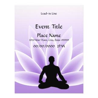 Yoga Lotus Man Violet 8.5 x 11 Event Flyer