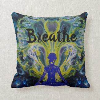 Yoga Lotus Meditation Throw Pillow