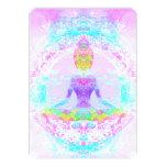 Yoga lotus pose. Invitation 13 Cm X 18 Cm Invitation Card
