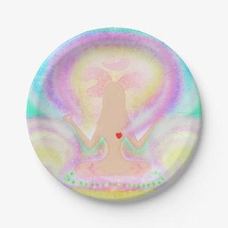 Yoga lotus pose. Paper Plate