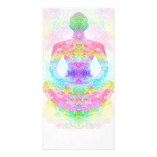Yoga lotus pose. Photo Card