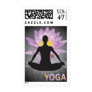 Yoga - Lotus Pose Postage Stamp