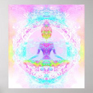 Yoga lotus pose. Poster