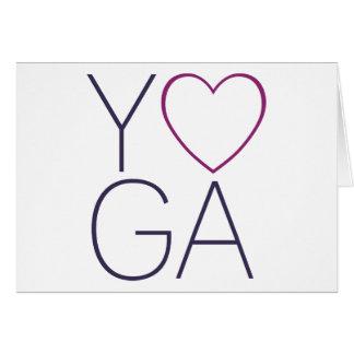 yoga love card