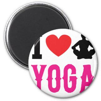 yoga love girl cute magnet