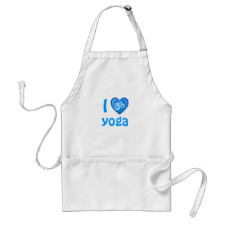 Yoga Love Heart Om Blue Adult Apron