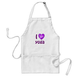 Yoga Love Heart Om Purple Adult Apron