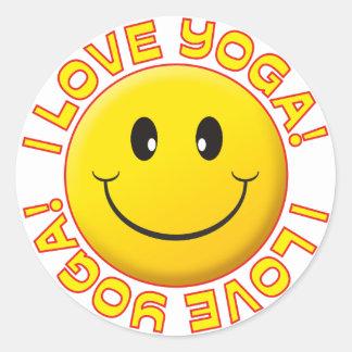 Yoga Love Smile Sticker