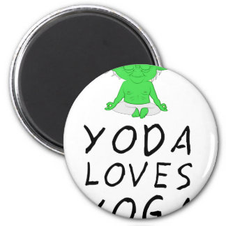 yoga loves yoga magnet