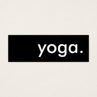 yoga. loyalty punch card