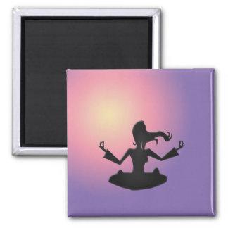 yoga refrigerator magnet