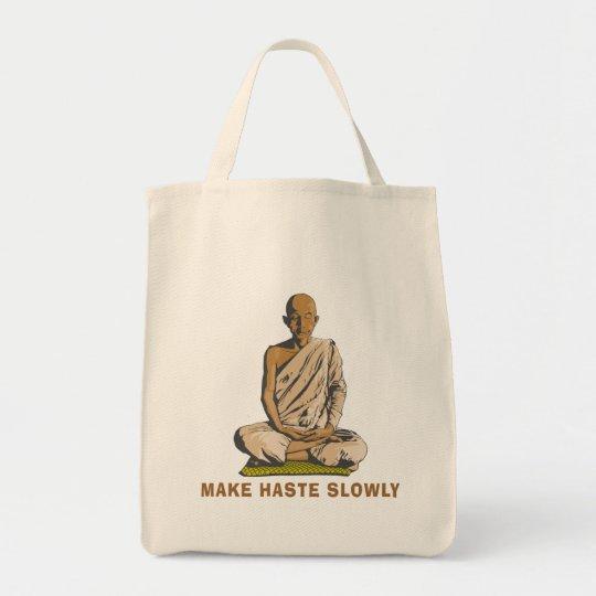 Yoga Make Haste Slowly Tote Bag