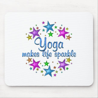 Yoga Makes Life Sparkle Mouse Pad