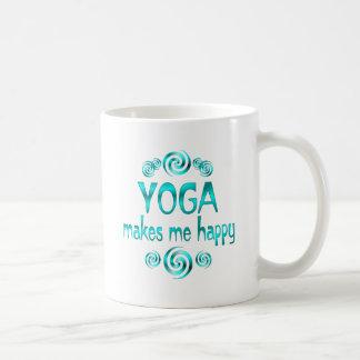 Yoga Makes Me Happy Coffee Mug
