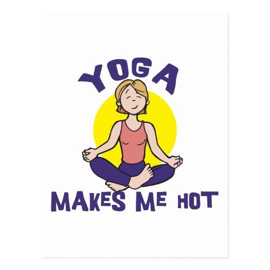 Yoga Makes Me Hot Postcard