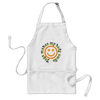 Yoga Makes My Body Smile Health Fitness New Age Adult Apron