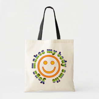 Yoga Makes My Body Smile Health Fitness New Age Budget Tote Bag