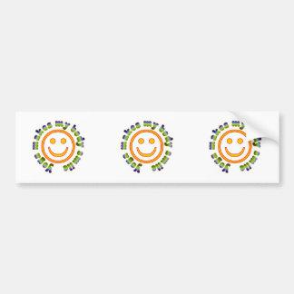 Yoga Makes My Body Smile Health Fitness New Age Bumper Sticker