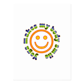 Yoga Makes My Body Smile Health Fitness New Age Postcard