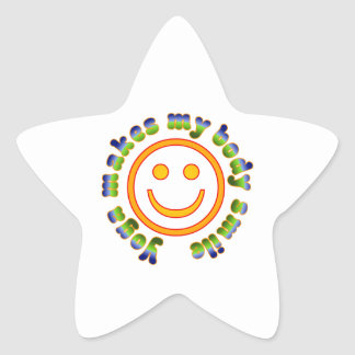 Yoga Makes My Body Smile Health Fitness New Age Star Sticker