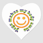 Yoga Makes My Body Smile Health Fitness New Age Heart Sticker