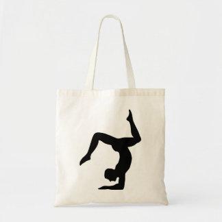 Yoga man tote bags