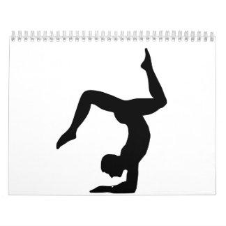 Yoga man calendar