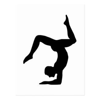 Yoga man postcard