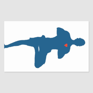 Yoga Man Tree Pose Rectangle Sticker