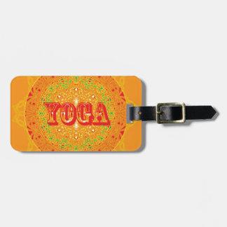 Yoga Mandala Design Bag Tag