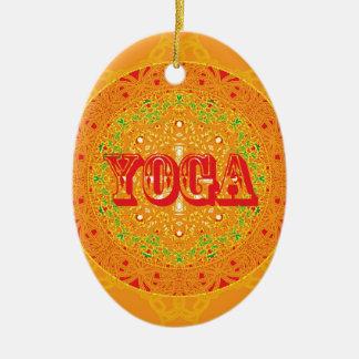 Yoga Mandala Design Ceramic Ornament