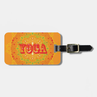 Yoga Mandala Design Luggage Tags