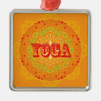 Yoga Mandala Design Metal Ornament