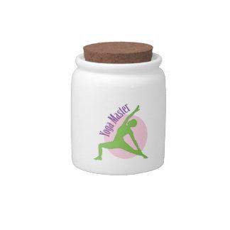 Yoga Master Candy Jars