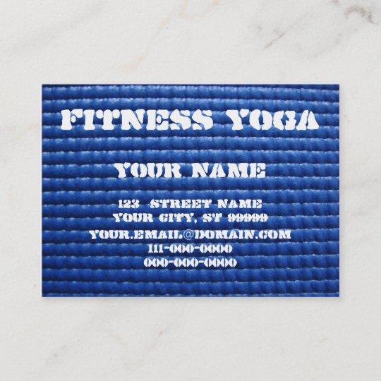 Yoga mat business card zazzle yoga mat business card reheart Choice Image