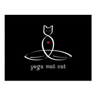 Yoga Mat Cat - Fancy style text. Postcard