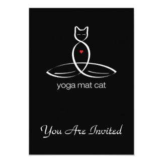 Yoga Mat Cat - Regular style text. Card