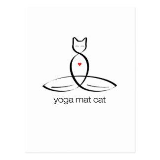 Yoga Mat Cat - Regular style text. Postcard
