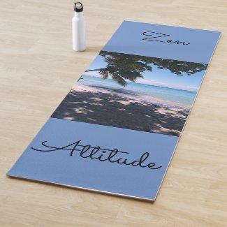 Yoga mat printed with beautiful beach
