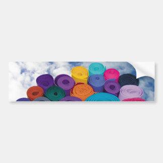 Yoga mats bumper sticker