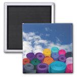 Yoga mats refrigerator magnets