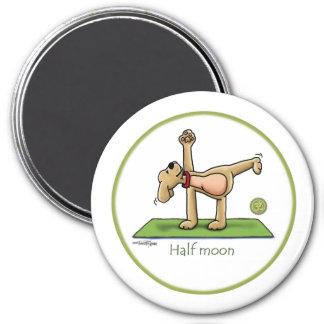 Yoga - media luna imán redondo 7 cm