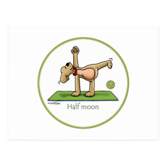 Yoga - media luna tarjetas postales